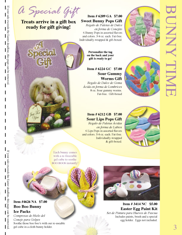 easter catalog fundraiser