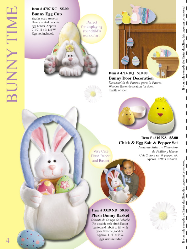 easter fundraising catalog