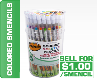 colored smencils fundraiser