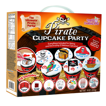 Pirate Cupcake Party Kit