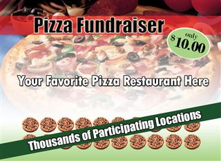 Pizza card fundraiser