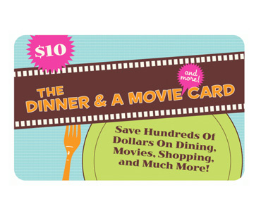 Dinner and a Movie Discount Card Fundraiser