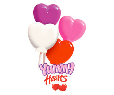 Heart Shaped Fundraising Lollipops