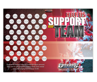 Cheerleading Scratch Card Fundraiser