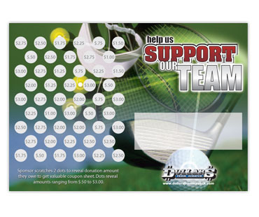 Golf Scratch Card Fundraiser