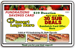 Subway Fundraising Card front