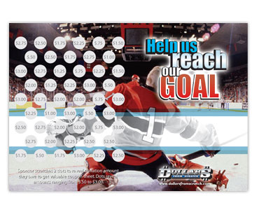 Hockey Scratch Card Fundraiser
