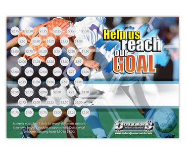 Soccer Scratch Card Fundraiser