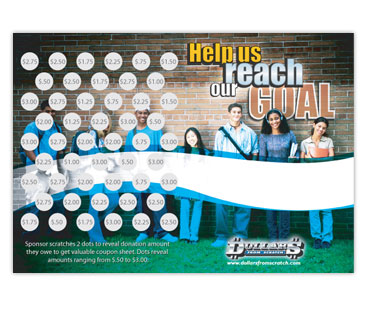 High School Scratch Card Fundraiser